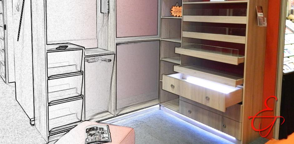 Lignes et volumes meubles et agencements sur mesure paris - Dressing sur mesure lille ...